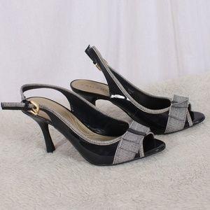 "Tahari ""Diane"" Black Patent Sling Back Heel"